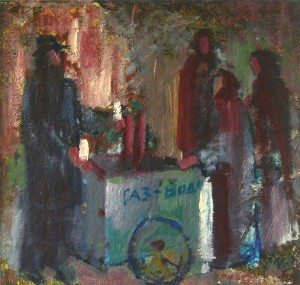 Sparkling Water, 2005, oil on canvas, 70x70