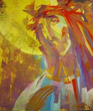 Ісус, 2010, кар.акр., 50х40