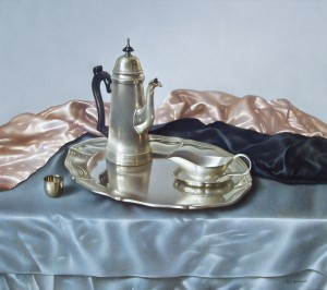 Still Life With A Coffee Pot, 2003, 65x63