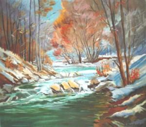 Vovchyi Village In Winter, 2009, oil on canvas, 70х90