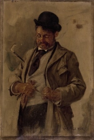 A Man With A Stick, oil on canvas, 48,5х32,5