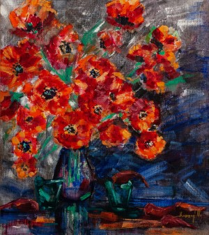 Poppies', 2016, oil on canvas, 75x85
