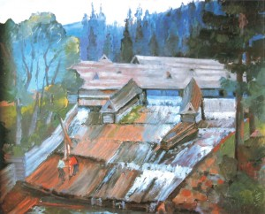 Стартовий майдан бокорашів, 1982, кар.о., 60х70