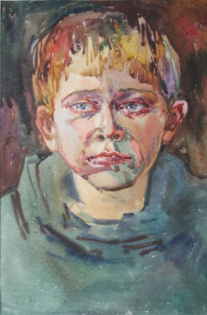 An Adult Child 1997 watercolour on paper 36x24