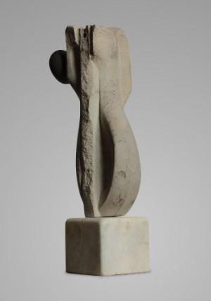 Муза, 1986, вапняк, 39х14х9,5
