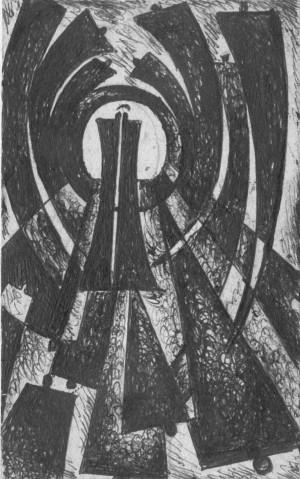 Корж Б. 'Зустріч в тунелі', 1972
