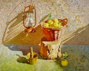 "Sunny day. From the series ""Simple things"" oil on masonite, 68х84"