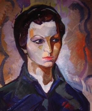 Портрет дружини, карт., о., 60х75
