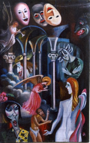 Temptation, 2001, oil on canvas, 85x55