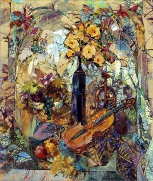 Натюрморт зі скрипкою, 2000, пап., авт. техн., 18х15