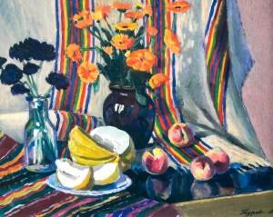 Натюрморт з динею, 1985, 40х50