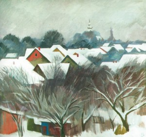 Winter, 1989, tempera on canvas, 64х75