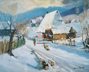 Winter Twilight, 1961, oil on canvas, 69,5х84,5