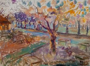 'Quay', 2015, oil on canvas