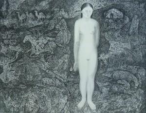 'Kalmytska Venus', 1973, pencil on paper, 44,5х57