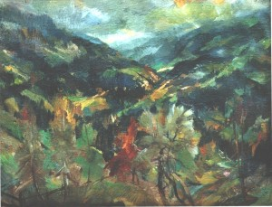 Carpathian Land, oil on canvas, 80х105