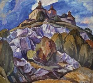 Замок Красна Горка, 1987, п.о. 75,5х85,5