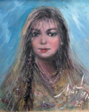Portrait Of A Girl, the 1990s, oil on cardboard, 52x41