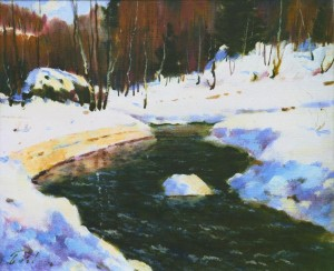 Sunny Winter Day, 1979, 50x60