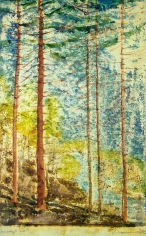 Молодий ліс, 1960-ті рр. пап.монот. 55х33