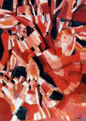 Dance. Folklore Improvisation, 1988, oil on canvas, 105x72,5