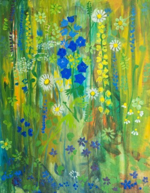 Wildflowers, 1990, oil on canvas, 69,5х64