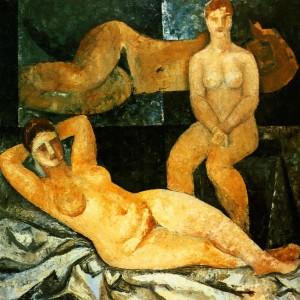 Three Models', 1964, oil on canvas, 92,5х92,5