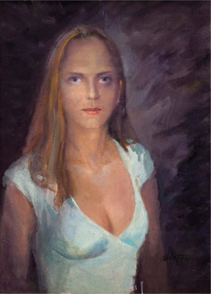 Portrait Of A Girl, the 1990s, oil on canvas, 69x50