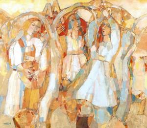 Тепла пора. Яблуневий сад, 2006, п.о., 86х100