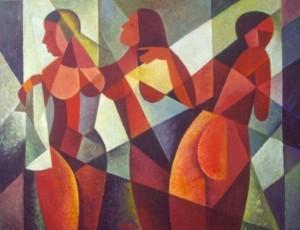 'Три оголені', 2000, 60х80