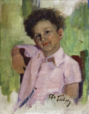The Artists Eldest Son, 1958, 45x40