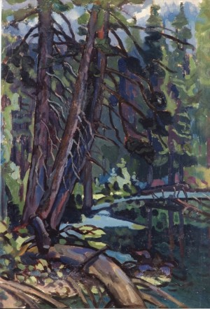 Mountain Lake, 1967, oil on cardboard, 88x60