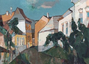 Quiet Street, 2003, oil on canvas, 53x77