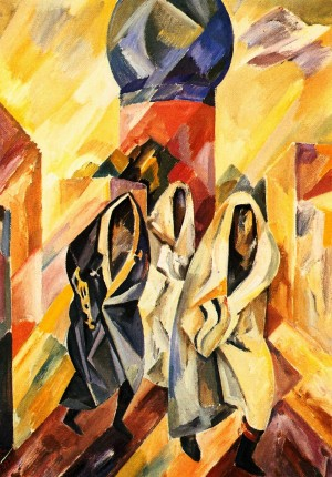 'Троє жінок в паранджі', 1978, ДВП, о., 70х50