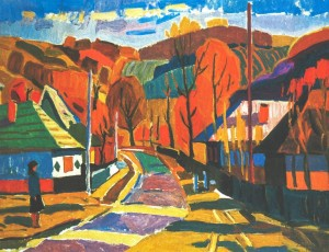 Country In The Verkhovyna, 1975, oil on canvas, 66х87,5