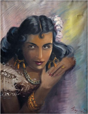 Portrait Of A Gipsy Woman, oil on canvas, 67x54