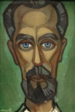 Етюд до портрету Д. Снігурського, 1968, п.о. 43,5х30
