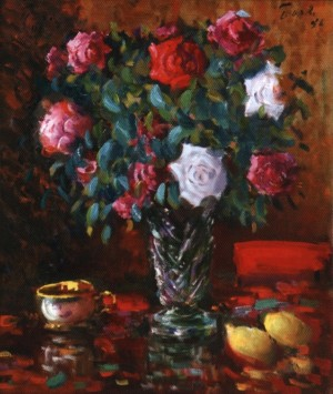 Roses With Lemons, 1996, 70x60