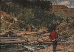 Woodcutter, 1953, oil on canvas, 65x85