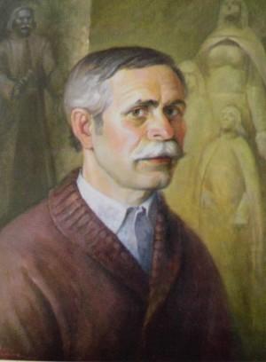 Портрет скульптора Василя Олашина, 2002, п.о., 50х40