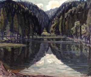 Lake, 1968, oil on canvas, 60x70