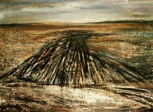 Melancholy Steppe', 1982, oil on plywood, 60x80