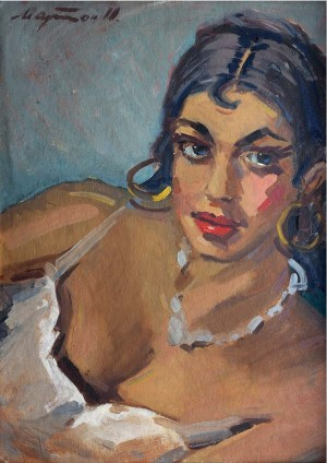 Portrait of A Gipsy Woman, oil on canvas, 68x48
