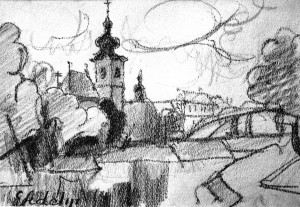The city of Gyor, 1943