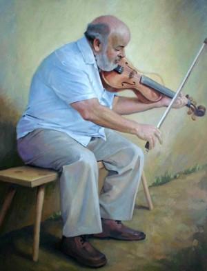 Портрет ужгородського скрипаля, 2005, п.о., 65х50