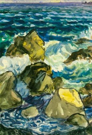 Морські камені, 1962, карт.акв. 49х34