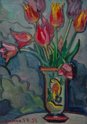 Tulips', 1958, 40,5x30