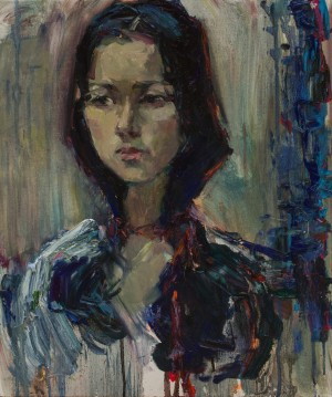 Olesia Rybchenko. Portrait. 2017. 50х60