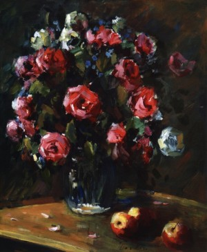 Roses With Apples On A Dark Background, 1981, 60x50(2)