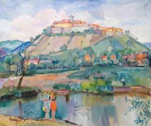 Мукачівський замок, 1930-ті, п.о., 100х120 (Аукціонний дім Корнерс)